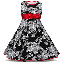 Fancy Baby Children's Clothing Girl Floral Dress Little Girl 2 3 4 5 6 Years Birthday Party Dresses For Girls Frock Designs 2017
