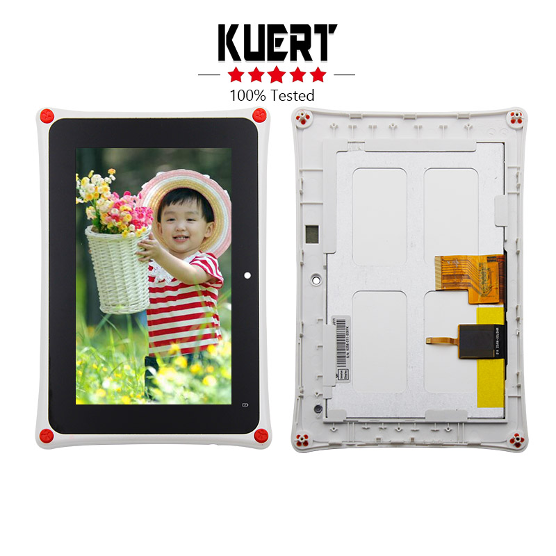 Free Shipping For Fuhu Nabi 2 Kids Tablet Lcd Display Digitizer Touch Screen Assembly Frame Replacement<br>