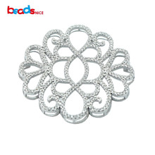 Beadsnice wholesale sterling silver pendants base fine jewelry findings  micro pave for luxury jewelry necklace making ID30137