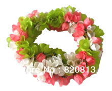 5pcs/lot Hawaiian leis Party Supplies Garland Necklace Colorful Fancy Dress Party Hawaii Beach Fun(China)