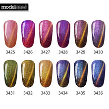 Modelones Summer Hot Sale 3D Diamond Chameleon Red Magnetic Gel Polish UV Shinny Soak Off Gel Nail Polish Need Magnet Stick(China)