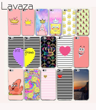 Lavaza 56O Spongebob Queen Princess Best friends Hard coque Case for iPhone 5C fundas cover 5 5S 4 4S 7 PLUS(China)