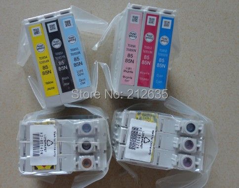 T0851 T0852 T0853 T0854  T0855 T0856 85N original ink cartridges FOR EPSON R330 1390 85N for R330<br><br>Aliexpress
