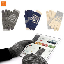 Original Xiaomi Finger Screen Touch Gloves Winter Warm Wool Gloves For iphone Xiaomi Touch Phone Tablet Smart device Christmas(China)