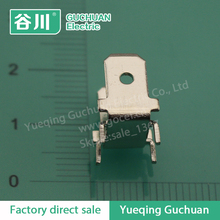 DJ6138-6.3*0.8 Screw conjoined U type terminal lug Double-head circuit board soldering terminal 0.8mm PCB terminal