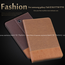 Business Leather Case For Samsung Galaxy Tab S2 8.0 T710 T715 8.0 inch Tablet  Support stand Cover with Card Solt + Film +Stylus