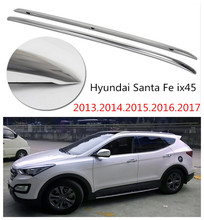 Auto Roof Racks Luggage Rack For Hyundai Santa Fe ix45 2013.2014.2015.2016.2017 High Quality Aluminium Car Accessories(China)