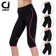 CHEJI Women's New Team Bike Bicycle Cycling Shorts Pants Summer Outdoor Wear Riding 3D GEL Padded 5-Color Size S-XL(China)
