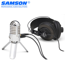 Original Samson Meteor Mic Microphone Professional USB Studio Condenser Microphone for Computer Video Recording(China)