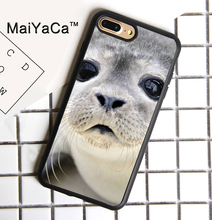 MaiYaCa Cute Baby Seal Face Nature Soft TPU Phone Case for Apple iPhone 8 Plus Luxury Cover for iphone 8plus Back Shell(China)