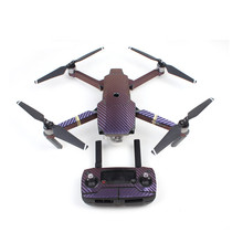 Waterproof Carbon Graphic Sticker Decals for DJI Mavic PRO Camera Drone Body/Remote Controller/ Battery/ Arm - Purple to Blue