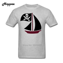 XS-XXXL Pirate Boat T Shirt Men Short Sleeve Cotton T-Shirts Male Brand Oversize Tee Shirts Cheap Sale Tops Clothing