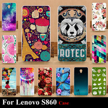 For Lenovo S860 Hard Plastic Mobile Phone Cover Case DIY Color Paitn Cellphone Bag Shell Free Shipping