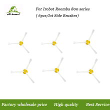 6pcs/lot High Quality New 3-armed Side Brushes for iRobot Roomba 800 900 Series 870 880 980 Vacuum Cleaner Robot Parts