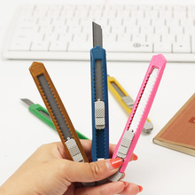 3 PCS Small Utility Knife Paper Cutter Cutting Paper Razor Blade Office Stationery School Supply Color Random