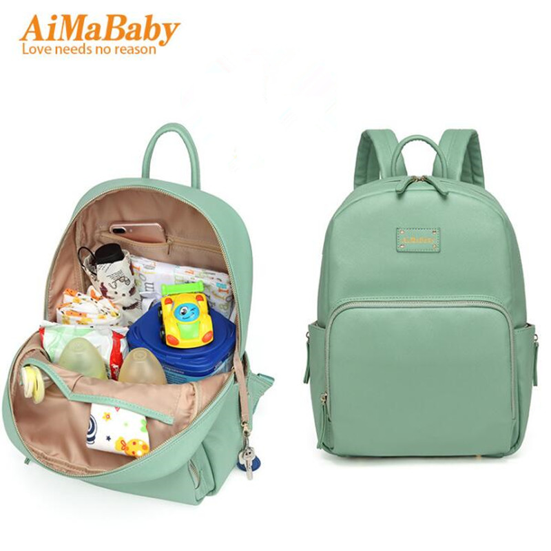 PU Leather Baby Bag Organizer Tote Diaper Bags Mom Backpack Mother Maternity Bags Diaper Backpack Large Nappy Bag<br>