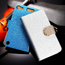 PU Leather Case Bling Diamond Phone Case Cover For Apple iPod Touch 5 5th 5G Touch 6 6th 4.0'' touch5 touch6 Wallet Case Holster