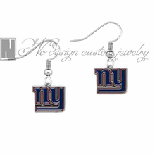 New York Giants super bowl Enamel Earrings Rugby  Fans Dangle Earrings NE0675