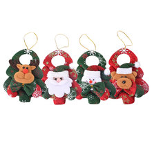 2PCs New Christmas Ornaments Christmas Tree Santa Claus Pendants Drop Christmas Decorations For Home Decoracion Navidad 14CM(China)