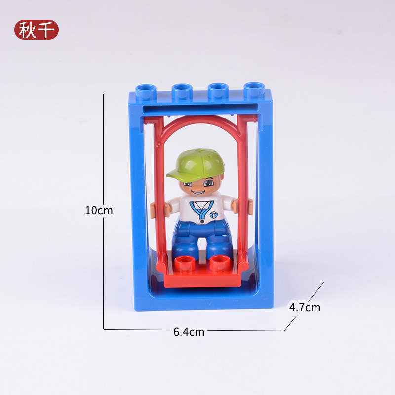 Duplo Building Blocks Kits Bricks Toy Gift DIY Toys & Hobbies Toy For Children Swing Compatible City Big Size Figures Duploe