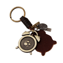 PangKe Brand individualized jewelry fashion hang decorations Alarm clock pendant Keyring can become necklace handmade stuff(China)