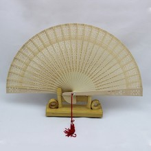 ARomatic Wood Pocket Folding Hand Held Chinese Style Fans Elegent Party Fan Chinese Fans Wooden Fan