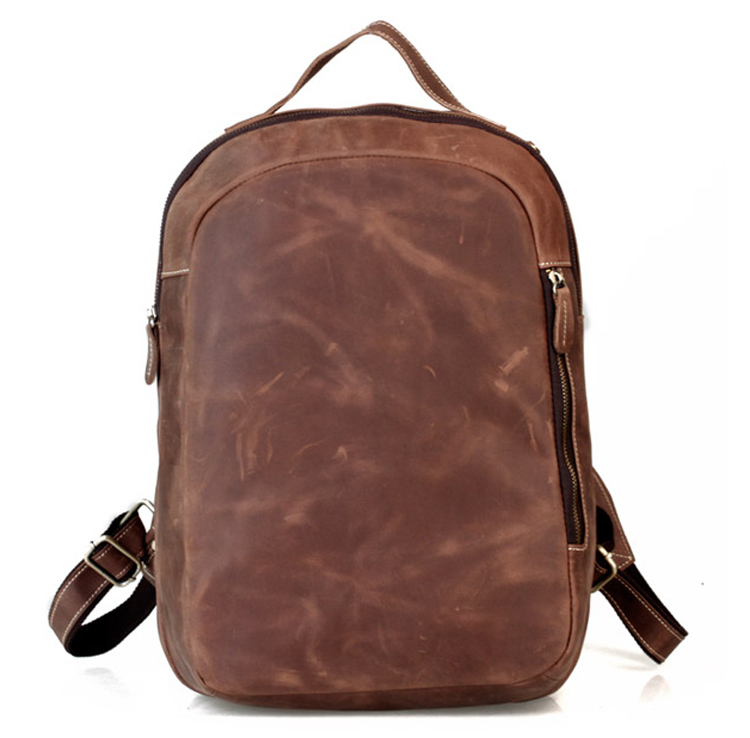 Crazy horse leather cowhide genuine leather male 16 Laptop Bag backpack Daypack 621<br><br>Aliexpress