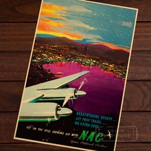 The glamour of air travel New Zealand NZ Vintage Retro Decorative Frame Poster DIY Wall Home Posters Home Decor Gift