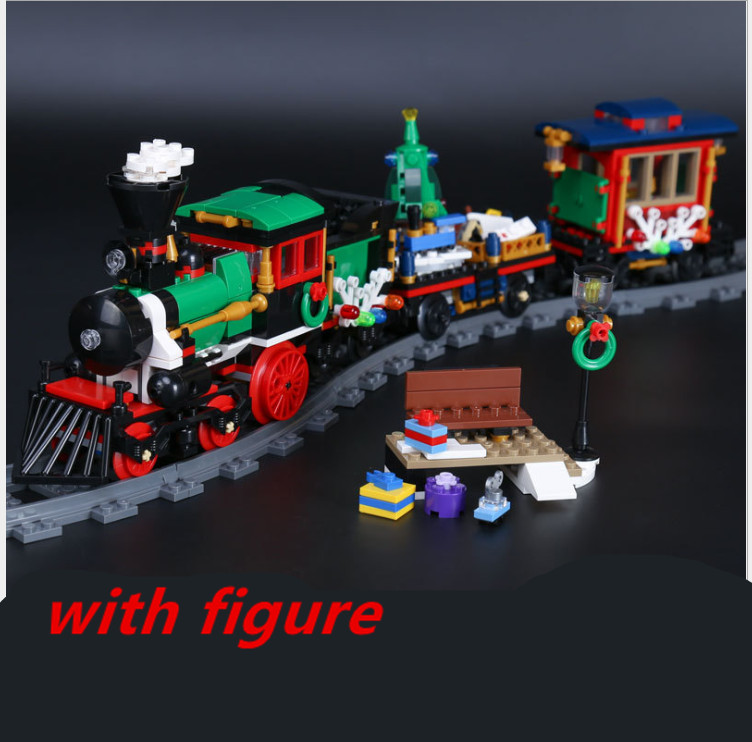 Lepin winter train track station 36001 Creative Series Christmas Winter Holiday Train SetBuilding Blocks Bricks compatible 10254<br>