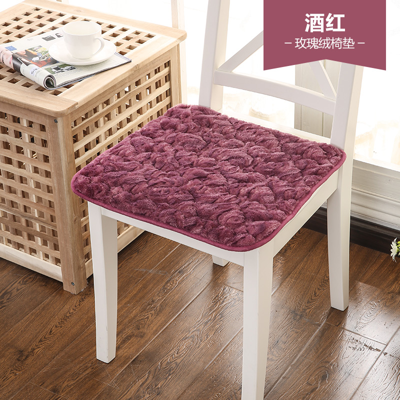 Plush Autumn And Thin Section Deals Quilted Chair Dining Non Slip Thickening Cushion Pad Office