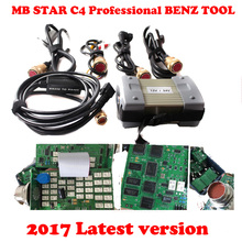 2017 High Quality star diagnosis Mb Star C3 Red port Xentry DAS Diagnostic Tool With Software 2017-7 Free R232 To USB cable