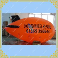 4m/13ft Adverizing Orange Inflatable Airship Blimp Zeppelin with your LOGO for Different Events