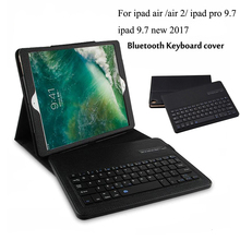 Keyboard For Apple iPad 9.7 new 2017 /Pro 9.7/iPad Air 2 iPad 6/iPad Air iPad 5 Wireless Bluetooth Keyboard Case stand+film+pen