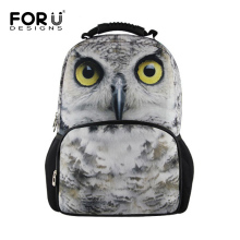 FORUDESIGNS 3D Printing Women Animals Backpacks Owl Horse Backpack School Bagpack for Teenager Girl Lady Travel Rucksack Mochila