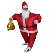 Inflatable Christmas Santa Claus Costume Fancy Dress for Men Women Adult Suit Airblown Cosplay Party Bar Play Outfits