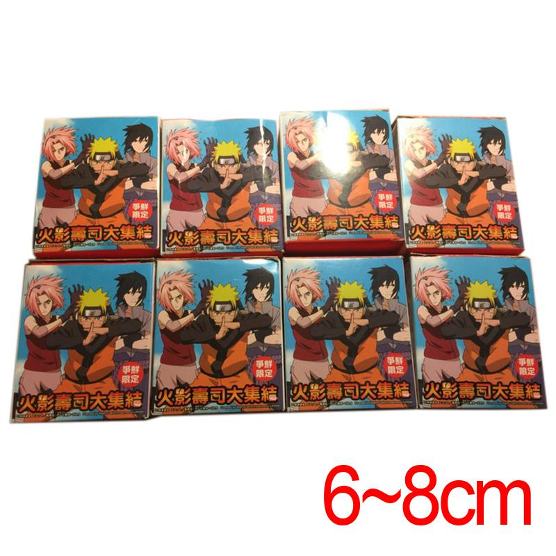 C&amp;F Ninja Naroto Mini Anime Action Figure Toys Naruto Sasuke Kakashi Rock Lee Gaara 4 CM PVC Figures Toys For Kids Gifts<br>