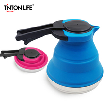 TINTON LIFE Foldable Silicone Hot Water Kettle Outdoor Travel Camping Kitchen Gadgets Cooking Tools