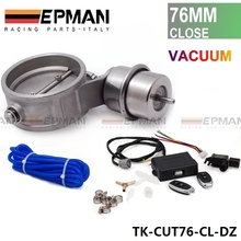 "Exhaust Control Valve Set Cutout 3""76mm Pipe Close Style With Vacuum Actuator with Wireless Remote Controller Set TK-CUT76-CL-DZ"
