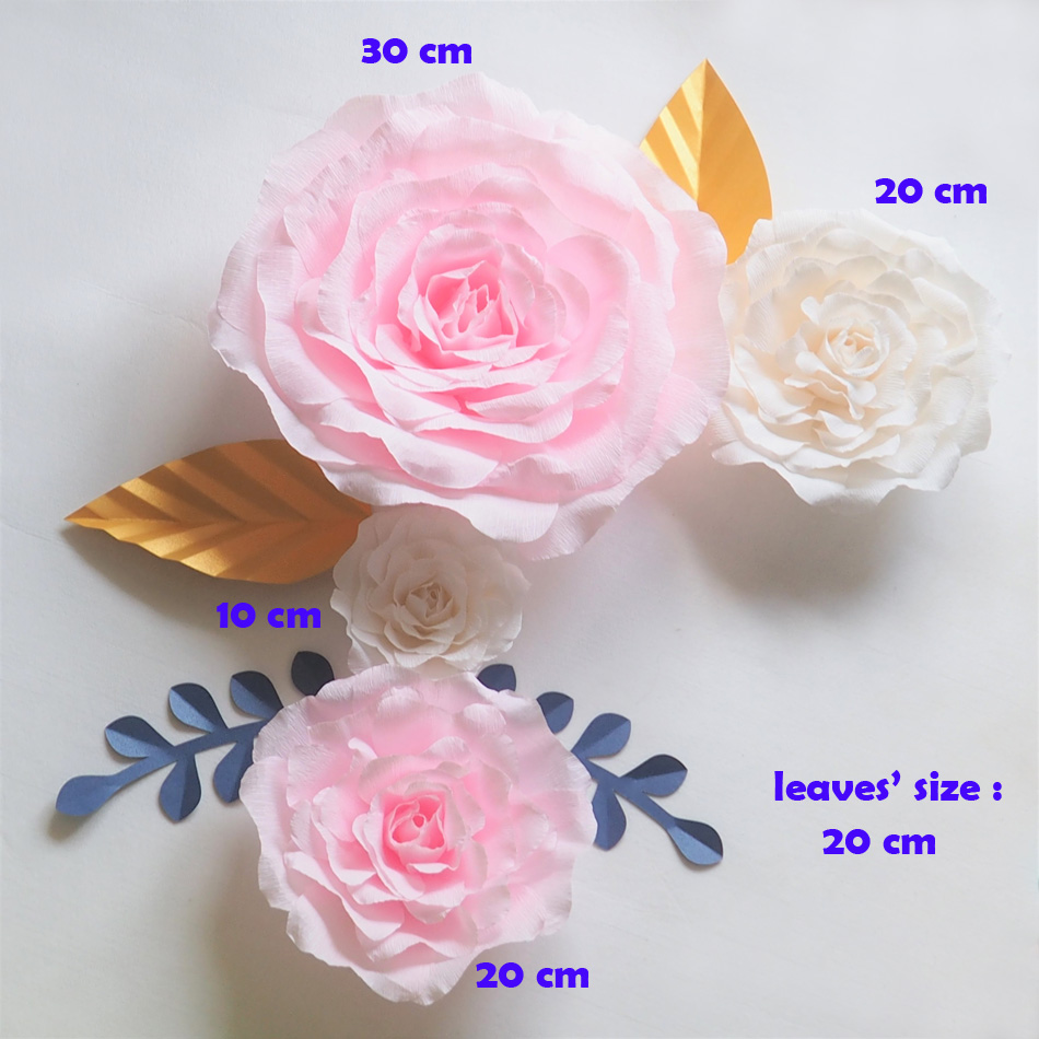 Crepe Giant Paper Flowers Backdrop Artificial Handmade Crepe Paper ...