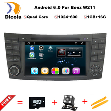 Quad Core Android 6.0.1 Car DVD GPS player FOR BENZB E-CLASS W211 Quad Cortex A9 1.6GHz car audio car multimedia car stereo