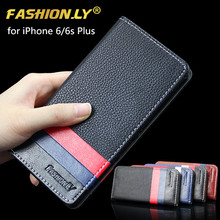 Luxury PU Flip Leather Mobile Phone Cover Case For Apple iPhone 6s plus 6 plus Original Brand Wallet Holster Cell Back Cover Bag
