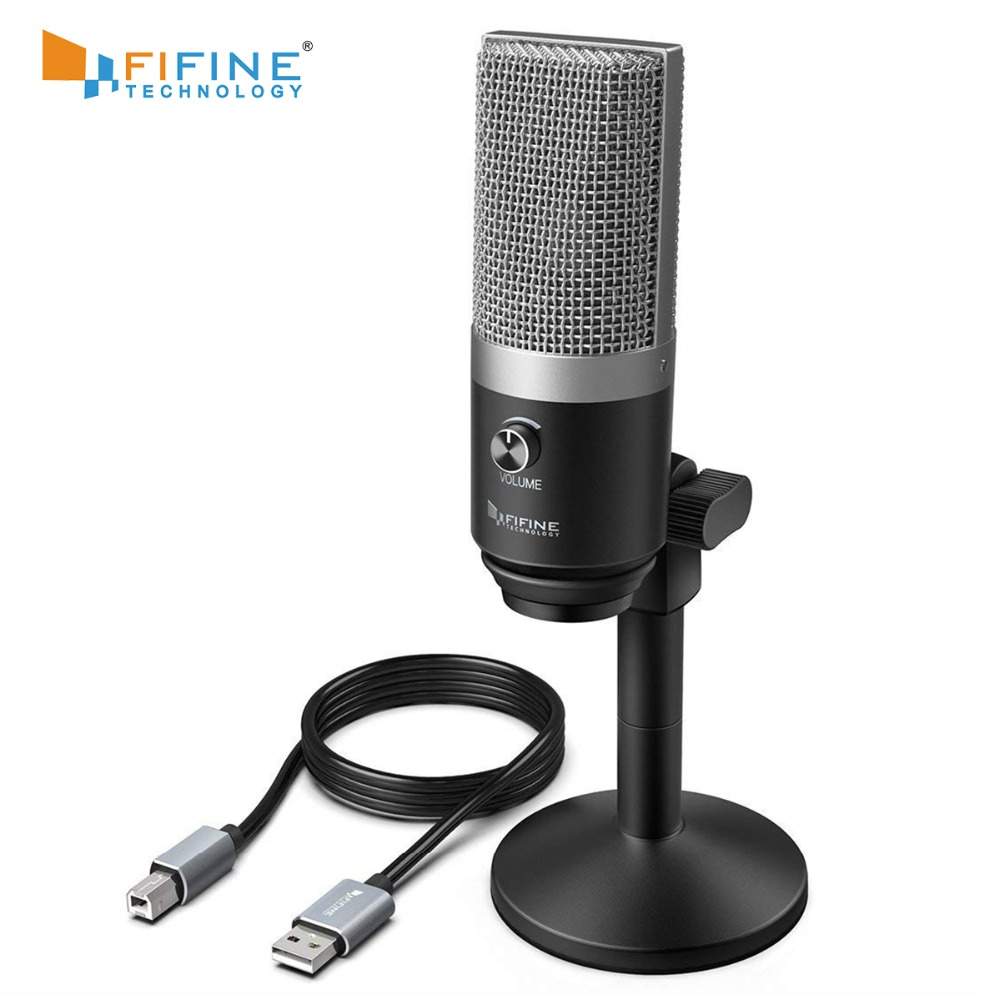FIFINE USB Microphone for Mac laptop and Computers for Recording Streaming Twitch Voice overs Podcasting for Youtube Skype K670 (China)