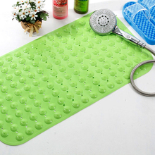 PVC Non-slip Bath Mat Shower Bath Foot Massage Bathroom and Toilet Mats with Suction Cups Bathroom Products(China)