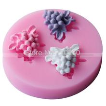 C053Free shipping 1piece grapes silicone chocolate cake mold Quality assurance of FDA Manufacture Mold(China)