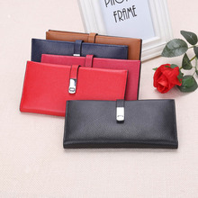 New Brand Design Fashion Genuine Leather Women Purse Female Clutch Wallets Ladies pure Cowhide  made 5 Colors Hasp purse 743