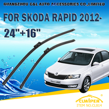 "Wiper Blades For SKODA RAPID/SPACEBACK (2012- ) 2013 2014 2015 2016 Car Windshield Windscreen Wiper Blade 24""+16"" Cars styling"