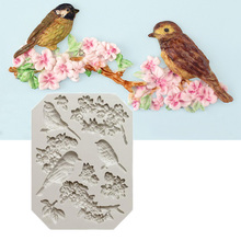 Birds and Flowers Shaped Silicone Cake Decorating Tool Cake Mold Pastry Tool Baking Tool(China)