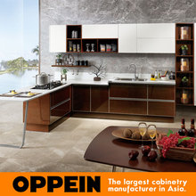 China Manufacture Modern Design Wooden Kitchen Cabinet Door OP15-024(China)