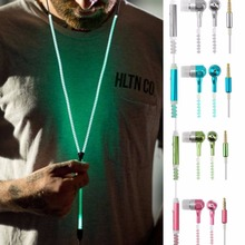 Cute Kawaii Glow In The Dark  Metal Earphones Earbuds With Mic Glowing Zipper Headset Luminous Light Stereo Handsfree earpiece