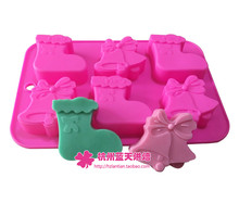 Silicone Boot Bell Christmas Cake Chocolate Soap Pudding Jelly Candy Ice Cookie Biscuit Mold Mould Pan Bakeware Wholesales(China)
